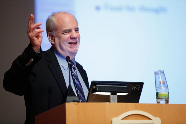 Saul Kripke at a podium